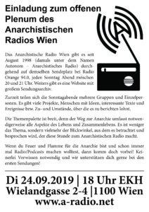 Offenes Treffen des anarchistischen Radios @ekh